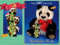 STEIFF Radko Panda & Ornament Set